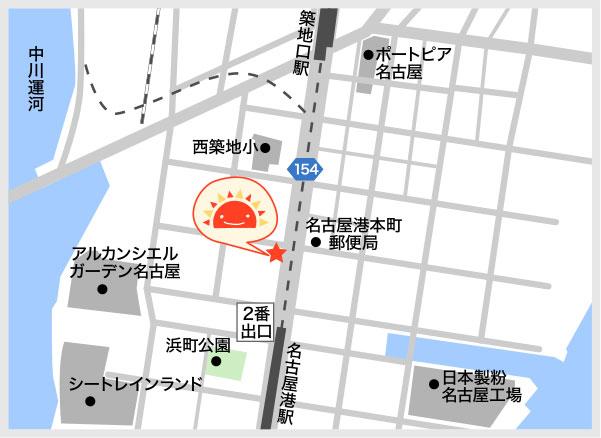 サンライズキッズ 名古屋港園 周辺地図