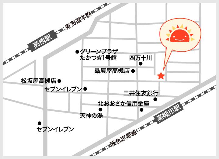 サンライズキッズ保育園 高槻駅前園 周辺地図