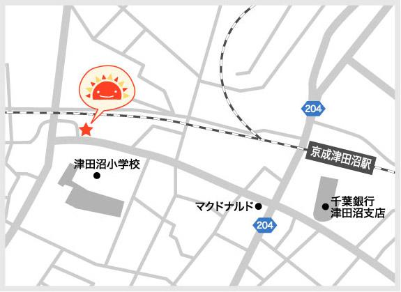 サンライズキッズ保育園 津田沼園 周辺地図