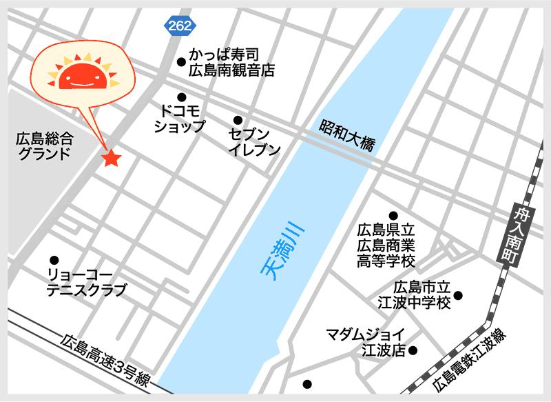 サンライズキッズ保育園 観音新町園 周辺地図