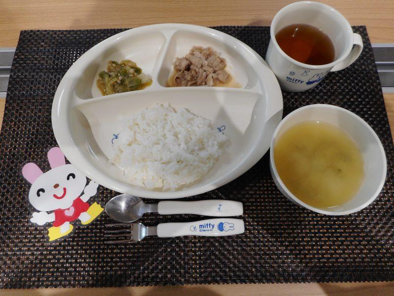 8月8日(水) 乳児食