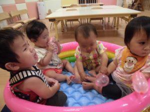 【小規模保育園:小田原園】初めての水遊び(*´▽`*)
